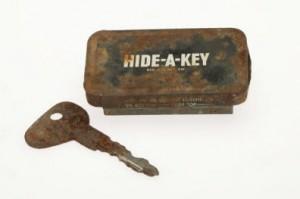 Hide a key
