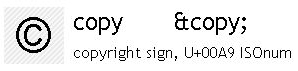Copy sign sgml entity