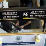 Customs passport check